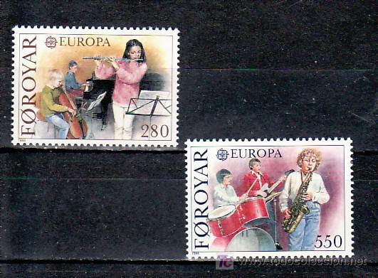 FEROE 110/1 SIN CHARNELA, TEMA EUROPA 1985, AÑO EUROPEO DE LA MUSICA, (Sellos - Extranjero - Europa - Islas Feroe)