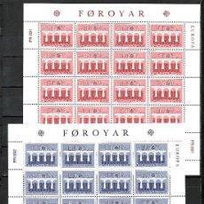 Sellos: FEROE 91/2 MINIPLIEGO SIN CHARNELA, TEMA EUROPA 1984, 25º ANIVERSARIO CONFERENCIA EUROPEA, . Lote 10829676