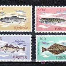 Sellos: FEROE 80/3 SIN CHARNELA, BARCO, FAUNA MARINA, PECES,. Lote 10522510