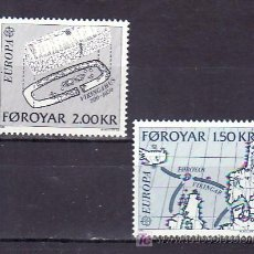 Sellos: FEROE 64/5 SIN CHARNELA, TEMA EUROPA 1982, MAPA, HECHOS HISTORICOS,. Lote 204802852