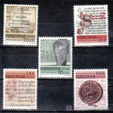 Sellos: FEROE 59/63 SIN CHARNELA, MUSICA, ESCRITOS HISTORICOS, BIBLIOTECA,. Lote 10537005