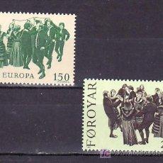Sellos: FEROE 57/8 SIN CHARNELA, TEMA EUROPA 1981, MUSICA, FOLKLORE, DANZA,. Lote 204802897