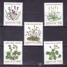 Sellos: FEROE 42/6 SIN CHARNELA, FLORES, PLANTAS SALVAJES,. Lote 8324552