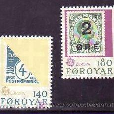 Sellos: FEROE 37/8 SIN CHARNELA, TEMA EUROPA 1979, SELLO SOBRE SELLO,. Lote 204802951
