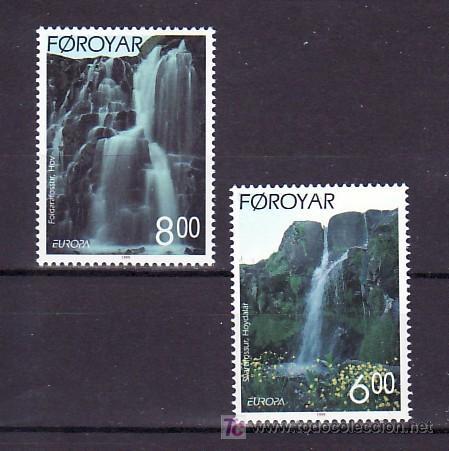 FEROE 350/1 SIN CHARNELA, TEMA EUROPA 1999, RESERVAS Y PARQUES NACIONALES, (Sellos - Extranjero - Europa - Islas Feroe)