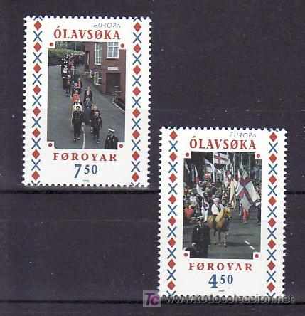 FEROE 334/5 SIN CHARNELA, TEMA EUROPA 1998, FIESTAS POPULARES, (Sellos - Extranjero - Europa - Islas Feroe)