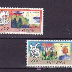 Sellos: FEROE 272/3 SIN CHARNELA, TEMA EUROPA 1995, PAZ Y LIBERTAD, . Lote 10529023