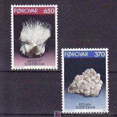 Sellos: FEROE 229/30 SIN CHARNELA, MINERALES, . Lote 10529092