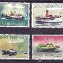 Sellos: FEROE 221/4 SIN CHARNELA, BARCO POSTALES, . Lote 11598391