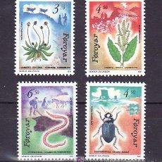 Sellos: FEROE 205/8 SIN CHARNELA, FAUNA Y FLORES REGIONALES,. Lote 11950271