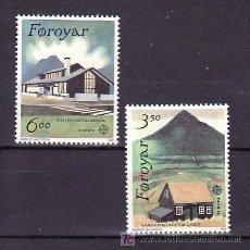 Sellos: FEROE 192/3 SIN CHARNELA, TEMA EUROPA 1990, EDIFICIOS DE CORREOS, . Lote 10529314