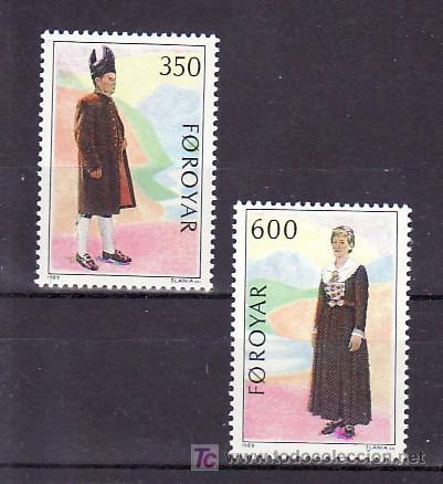 FEROE 178/9 SIN CHARNELA, TRAJES REGIONALES, (Sellos - Extranjero - Europa - Islas Feroe)