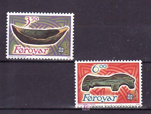 FEROE 176/7 SIN CHARNELA, TEMA EUROPA 1989, JUEGOS INFANTILES, (Sellos - Extranjero - Europa - Islas Feroe)