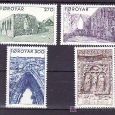 Sellos: FEROE 169/72 SIN CHARNELA, CATEDRAL IMCOMPLETA DE KIRKJUBOUR,. Lote 12055187