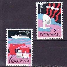 Sellos: FEROE 160/1 SIN CHARNELA, TEMA EUROPA 1988, TRANSPORTES Y COMUNICACIONES,. Lote 10529572
