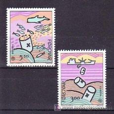 Sellos: FEROE 128/9 SIN CHARNELA, TEMA EUROPA 1986, PROTECCION DE LA NATURALEZA Y MEDIO AMBIENTE. Lote 206243987