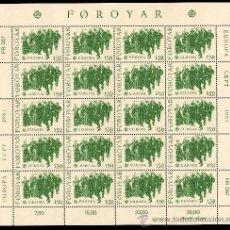 Sellos: FEROE AÑO 1981 YV 57/58*** 2 HB EN MINIPLIEGOS - EUROPA - FOLKLORE - TRADICIONES - CZ SLANIA. Lote 27529738
