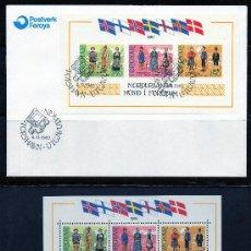 Sellos: FEROE AÑO 1983 YV HB 1*** + SPD EXPOSICIÓN NORDIA'83 - FOLKLORE - TRAJES - BANDERAS - COSTUMBRES. Lote 27641137
