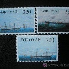 Sellos: FEROE 1983 IVERT 73/5 *** BARCOS DE VAPOR. Lote 16390310