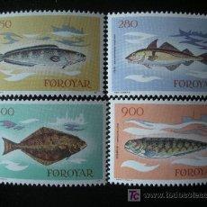 Sellos: FEROE 1983 IVERT 80/3 *** PECES DIVERSOS - FAUNA. Lote 23486799