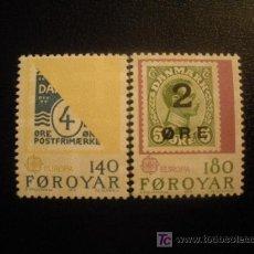 Sellos: FEROE 1979 IVERT 37/8 *** EUROPA - HISTORIA POSTAL. Lote 16494581