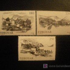 Sellos: FEROE 1982 IVERT 66/8 *** PUEBLOS DE LAS ISLAS - PAISAJES Y MONUMENTOS. Lote 16494674