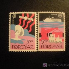 Sellos: FEROE 1988 IVERT 160/1 *** EUROPA - TRANSPORTE Y COMUNICACIONES. Lote 16494759