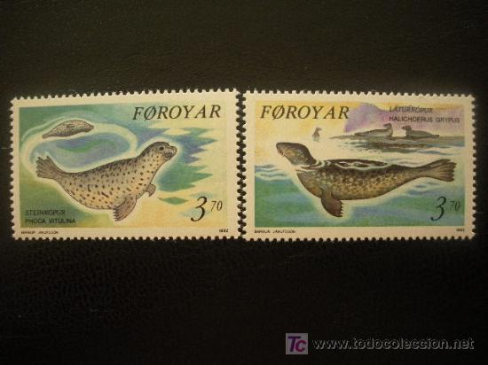 FEROE 1992 IVERT 231/2 *** FAUNA - FOCAS (Sellos - Extranjero - Europa - Islas Feroe)