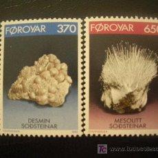 Sellos: FEROE 1992 IVERT 229/30 *** MINERALES. Lote 20181639