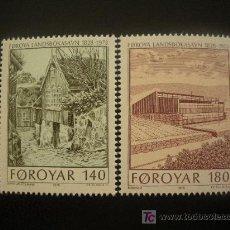 Sellos: FEROE 1978 IVERT 33/4 *** 150º ANIVERSARIO DE LA BIBLIOTECA NACIONAL - MONUMENTOS. Lote 20182061