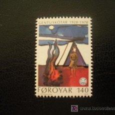 Sellos: FEROE 1978 IVERT 35 *** 50 ANIVERSARIO MOVIMIENTO SCOUTS FEMENINO. Lote 48322806