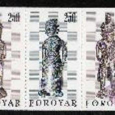 Sellos: FEROE AÑO 1983 YV C 76*** CARNET - PIEZAS DE AJEDREZ - ARTESANÍA - ESCULTURA - CZ SLANIA. Lote 31153816