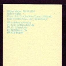 Sellos: FEROE AÑO 1985 YV C119*** CARNET - AVIONES - TRANSPORTES. Lote 26837877