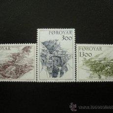 Sellos: FEROE 1986 IVERT 136/8 *** ANTIGUOS PUENTES DE LAS ISLAS FEROE - MONUMENTOS. Lote 27633233