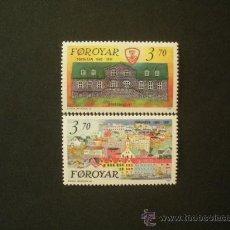 Sellos: FEROE 1991 IVERT 209/10 *** 125º ANIVERSARIO DE TORSHAVN - CAPITAL DE FEROE. Lote 24643809