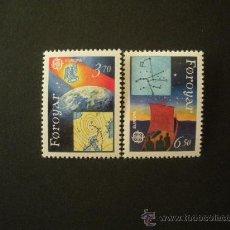 Sellos: FEROE 1991 IVERT 211/2 *** EUROPA - EUROPA Y EL ESPACIO. Lote 24643860