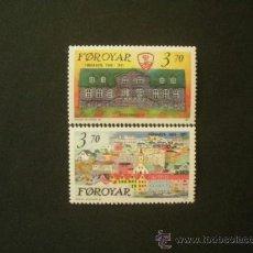 Sellos: FEROE 1991 IVERT 209/10 *** 125º ANIVERSARIO DE TORSHAVN - CAPITAL DE FEROE. Lote 37772484