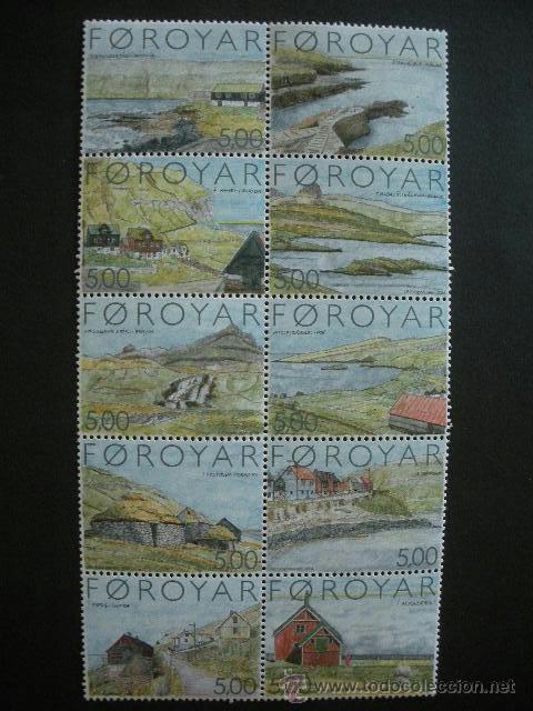 FEROE 2004 IVERT 469/78 *** ISLA SUDUROY - ARQUITECTURA - OBRAS DE J.P. GREGORIUSSEN - TURISMO (Sellos - Extranjero - Europa - Islas Feroe)
