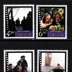 Sellos: FEROE 318/21** - AÑO 1997 - CINE - BARBARA DE NILS MALMROS. Lote 42415412