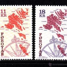 Sellos: FEROE 316/17** - AÑO 1997 - MAPA DE LAS ISLAS. Lote 42688912