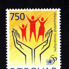 Sellos: FEROE 336** - AÑO 1998 - 50º ANIVERSARIO DE LA DECLARACION UNIVERSAL DE LOS DERECHOS HUMANOS. Lote 42688929