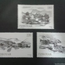 Sellos: SELLOS DE FEROE (DINAMARCA). YVERT 66/8. SERIE COMPLETA NUEVA SIN CHARNELA.. Lote 53159880