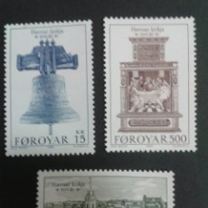 Sellos: SELLOS DE FEROE (DINAMARCA). YVERT 173/5. SERIE COMPLETA NUEVA SIN CHARNELA.. Lote 53159886
