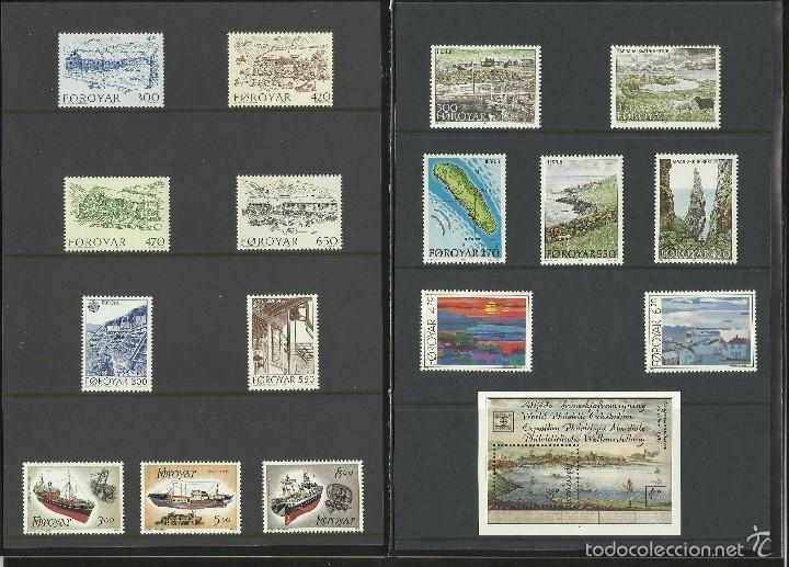 Sellos: ISLAS FEROE ANUARIO 1987 - INCLUYE LOS SELLOS - CEPT EUROPA- BARCOS- ISLA HESTUR- PAISAJES- PINTURA - Foto 4 - 55135051