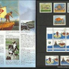 Sellos: ISLAS FEROE ANUARIO 1994 - INCLUYE LOS SELLOS -FAUNA PERROS- PECES- EUROPA CEPT- BARCOS- FIESTAS . Lote 55135103