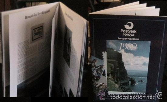 ISLAS FEROE LIBRO ANUARIO 1989 INCLUYE SELLOS - CEPT EUROPA- TRAJES TIPICOS- FUTBOL- ARTESANIA (Sellos - Extranjero - Europa - Islas Feroe)
