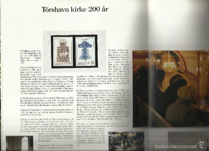 Sellos: ISLAS FEROE LIBRO ANUARIO 1989 INCLUYE SELLOS - CEPT EUROPA- TRAJES TIPICOS- FUTBOL- ARTESANIA - Foto 3 - 55135201
