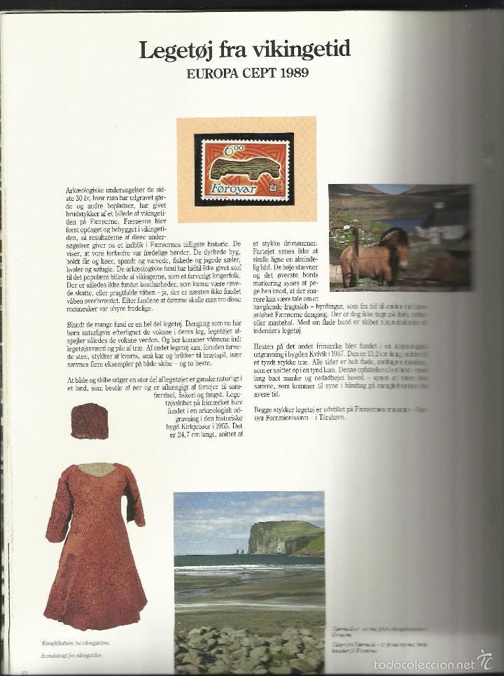 Sellos: ISLAS FEROE LIBRO ANUARIO 1989 INCLUYE SELLOS - CEPT EUROPA- TRAJES TIPICOS- FUTBOL- ARTESANIA - Foto 5 - 55135201