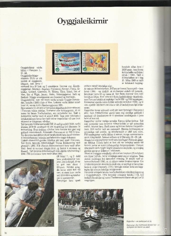 Sellos: ISLAS FEROE LIBRO ANUARIO 1989 INCLUYE SELLOS - CEPT EUROPA- TRAJES TIPICOS- FUTBOL- ARTESANIA - Foto 7 - 55135201