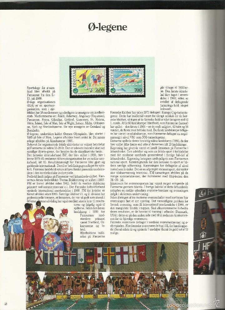Sellos: ISLAS FEROE LIBRO ANUARIO 1989 INCLUYE SELLOS - CEPT EUROPA- TRAJES TIPICOS- FUTBOL- ARTESANIA - Foto 8 - 55135201